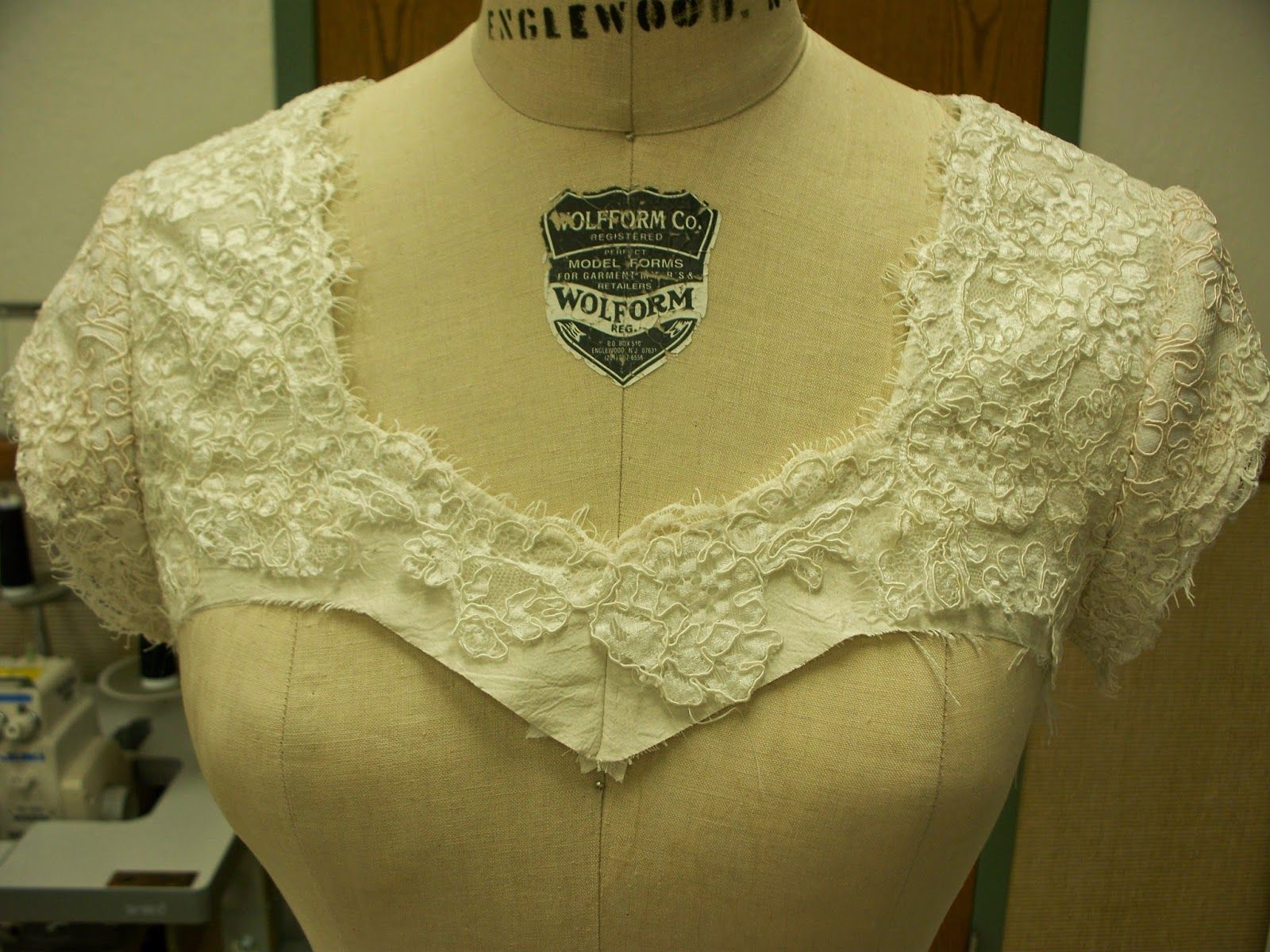 How to add lace sleeves and shoulders to a strapless lace for Adding sleeves to a wedding dress