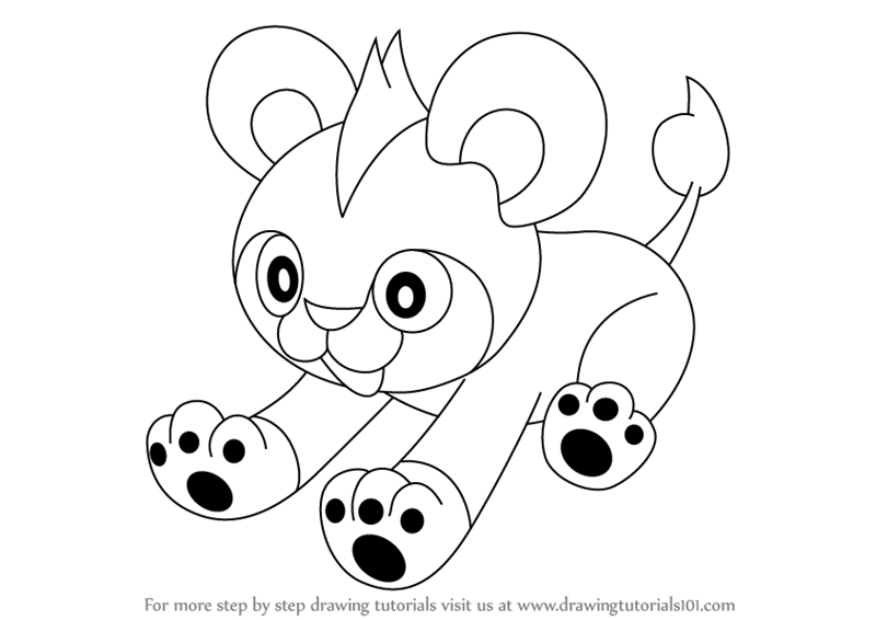 Litleo Are Quadruped Character From Pokemon It Has Dark Brown Color Body In This Tutorial We Will Draw Litl Pokemon Coloring Sheets Pokemon Pokemon Coloring