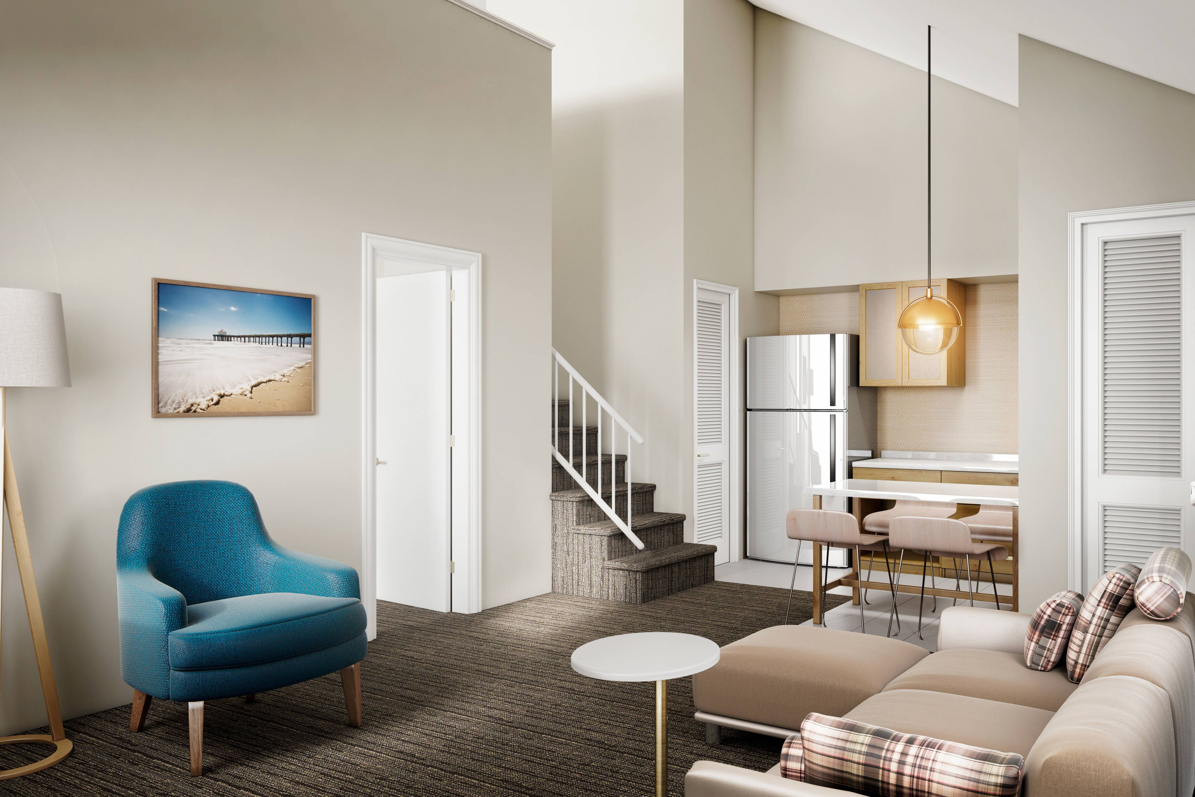Residence Inn Los Angeles Lax Manhattan Beach Penthouse Living