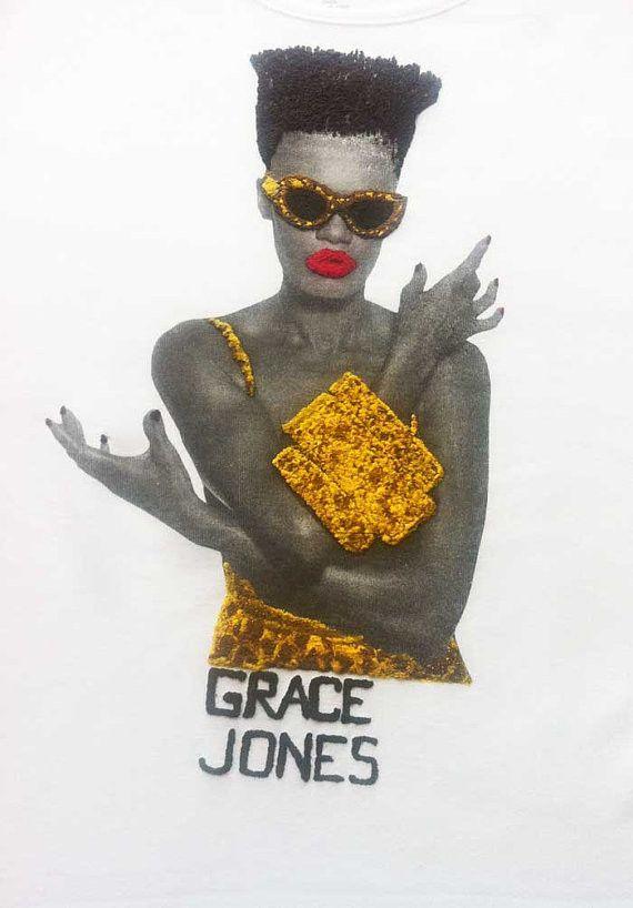 Grace Jones Art T-Shirt - Black 5uJlBD