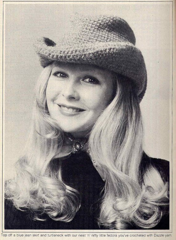Funky 70s crochet cowboy hat.