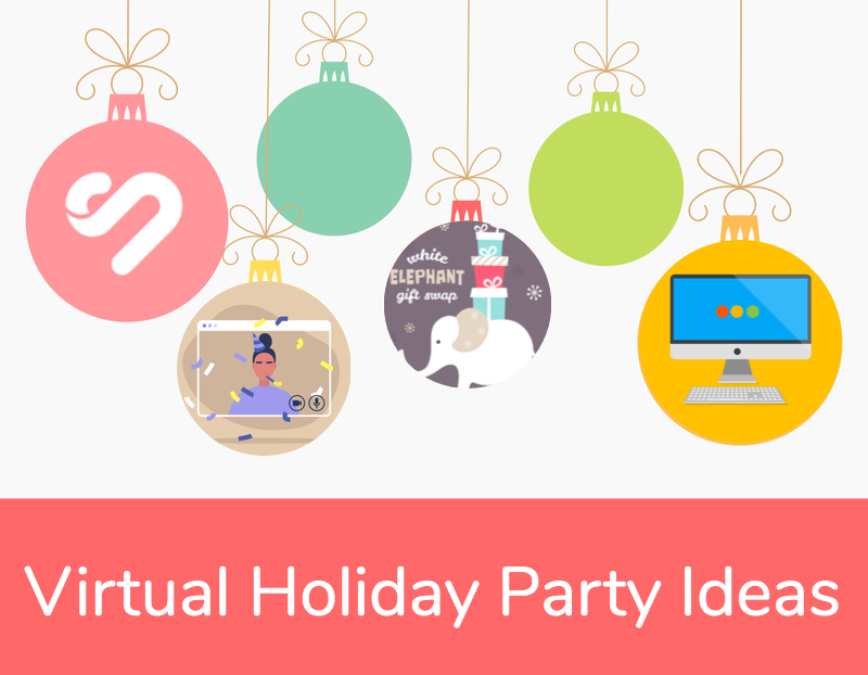 27 Spirited Virtual Holiday Party Ideas For Festive Fun Work Holiday Party Holiday Work Party Ideas Holiday Party Themes