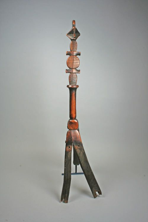 Backrest, Igbo peoples, wood and nails, 19th century. at The Metropolitan Museum of Art.