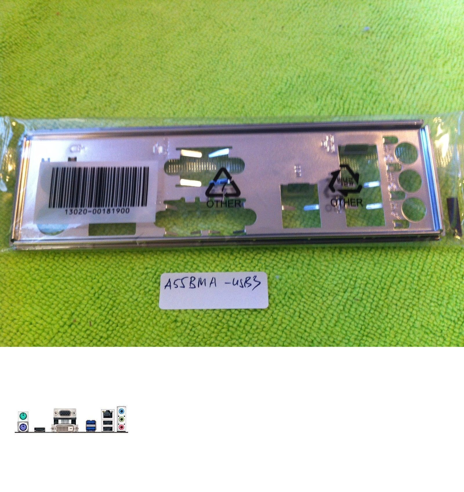 Motherboard Backplates 170080: Asus Io Shield For A55bm A
