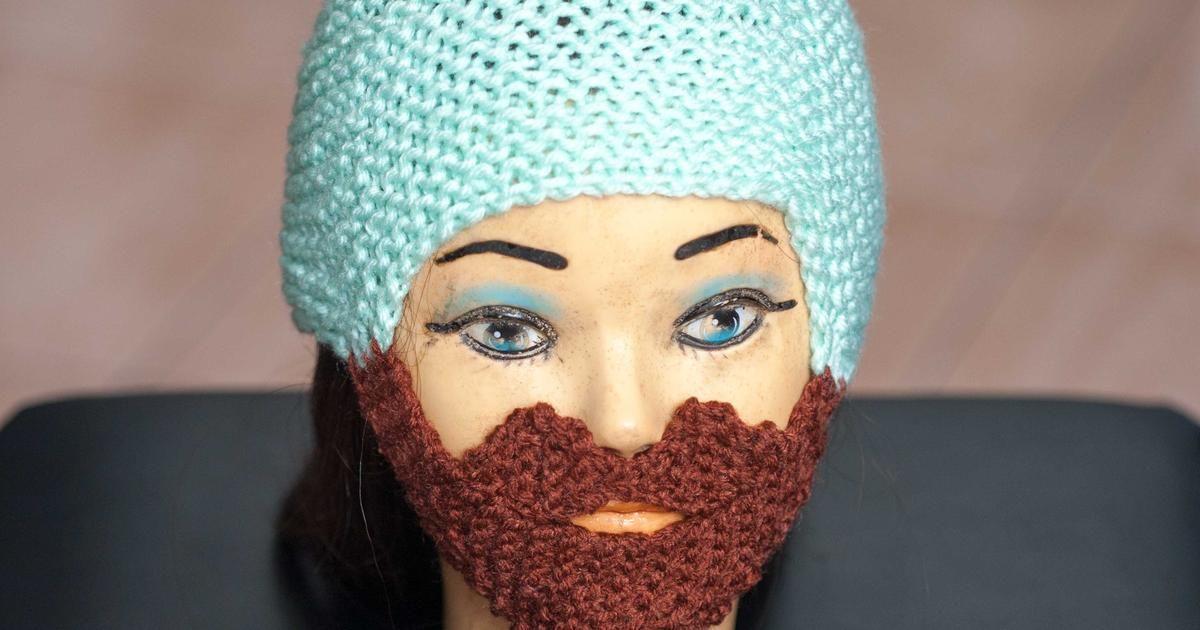 Vistoso Patrón De Crochet Libre Para El Sombrero De La Barba Adorno ...
