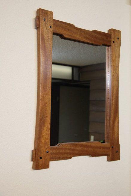 Greene And Greene Style Mirror Frame Wooden Mirror Frame Craftsman Mirrors Wooden Mirror