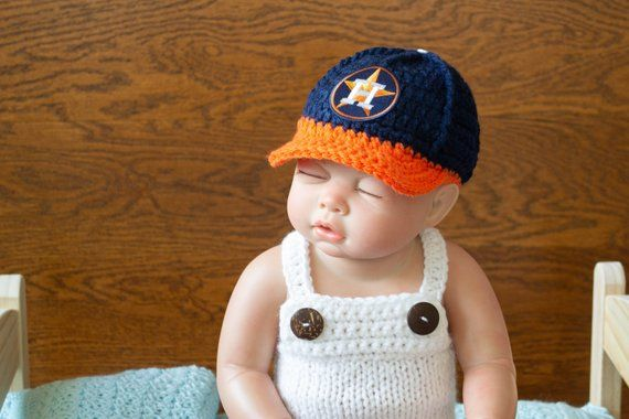 Baby Boy Hat Newborn Hat Infant Hats Newborn Houston Astros baseball hat - baseball  cap 7bd16f25e43