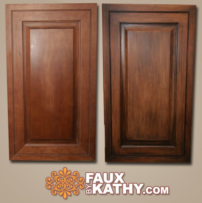 Tips Tricks For Painting Oak Cabinets: RE-Stain Kitchen Cabinet By Using Faux By Kathy Stain It