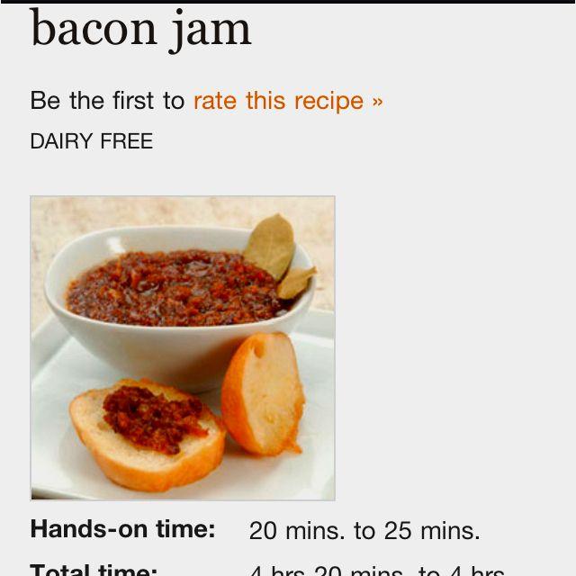 Bacon Jam!!! http://www.kingarthurflour.com/recipes/bacon-jam-recipe?go=EM120417J_source=EM120417_medium=email_content==4500448=MTQ0MTUwNzI3MzkS1=269240573=MjY5MjQwNTczS0#.T424vkNuDCc.mailto