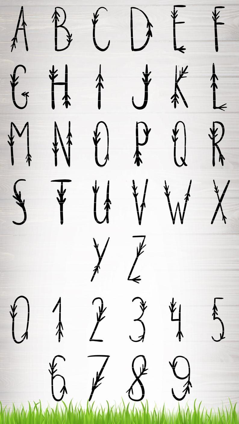 Tribal Lettering : tribal, lettering, Tribal, Arrow, Letters, Lettering, Alphabet, Fonts,, Alphabet,, Bullet, Journal