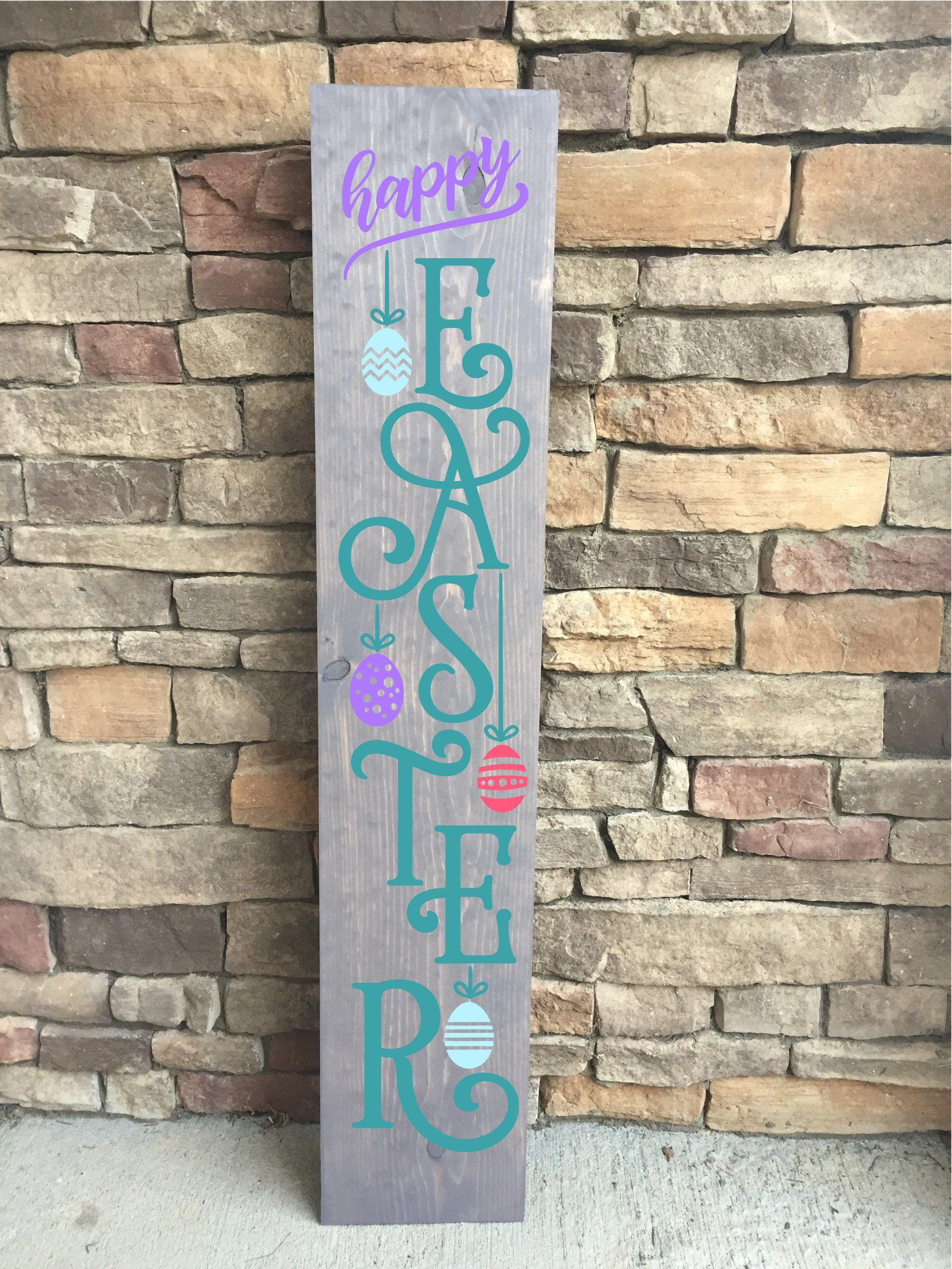 Easter Porch Sign Spring Porch Sign Easter Front Porch Sign Happy Easter Porch Sign He Is Risen Porch Sign Easter Door Decor Porch Signs Easter Wood Signs