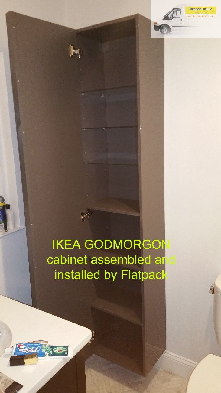 IKEA GODMORGON High cabinet, high gloss gray Article Number ...