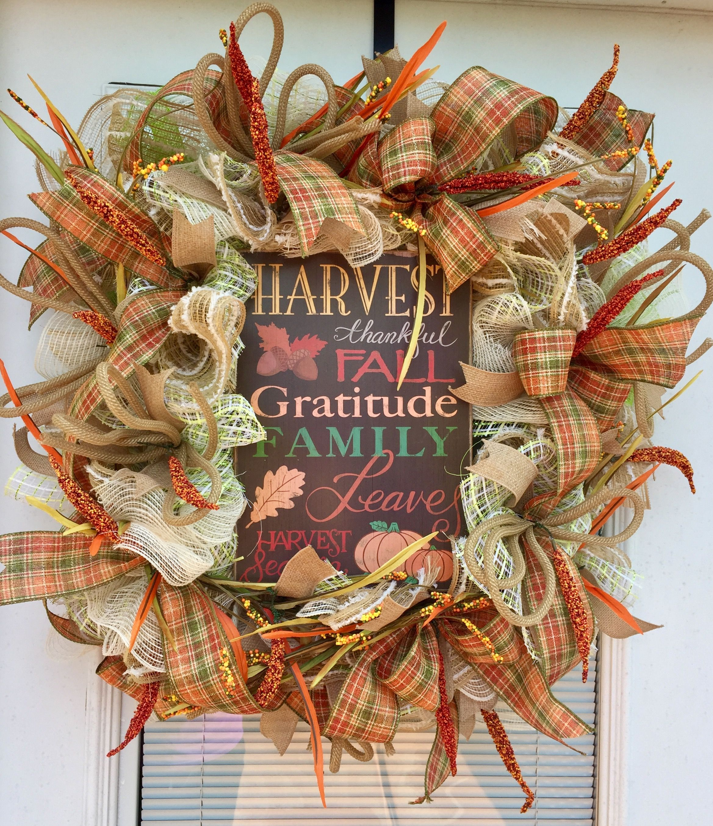 Harvest Fall Wreath $58 Ready To Ship Available For Purchase