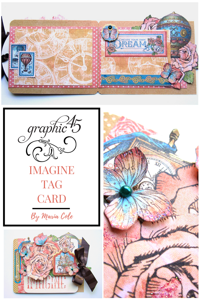Imagine Tag Card By Maria Cole Graphic 45 Imaine Staples