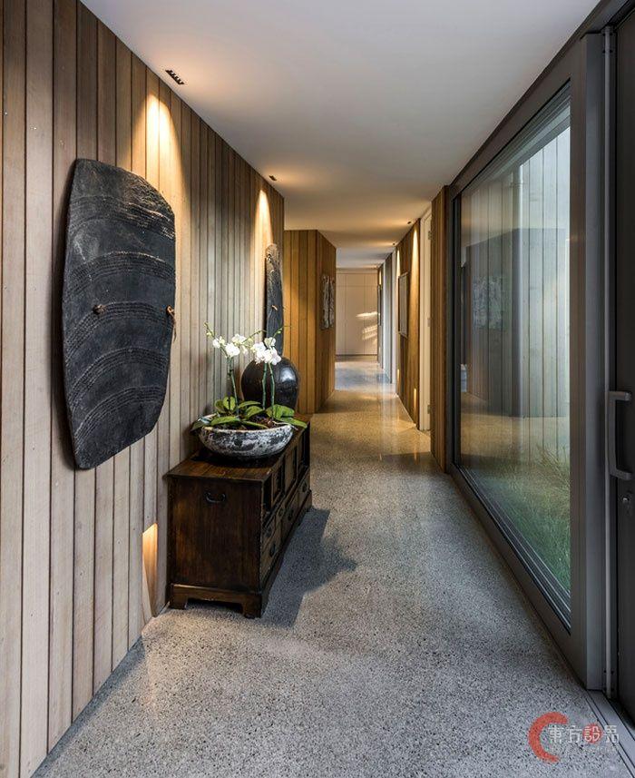 新西兰Christchurch围合式院落住宅设计 Architektur Haus Design, Innendesign, Moderne  Häuser,