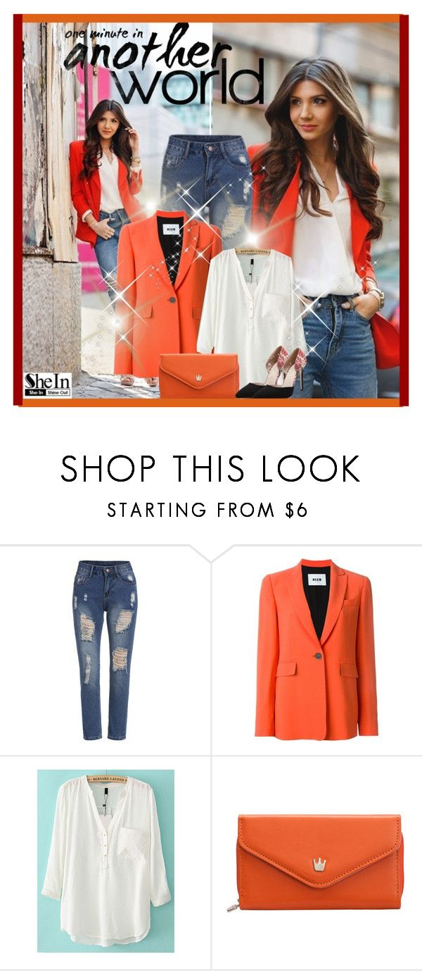 """""""Another World - SheIn"""" by hetkateta ❤ liked on Polyvore featuring MSGM"""