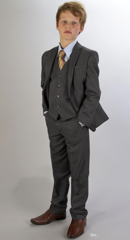 Hot Sale! Custom Made Kids\' Tuxedos charcoal gray Boys\' Suit ...