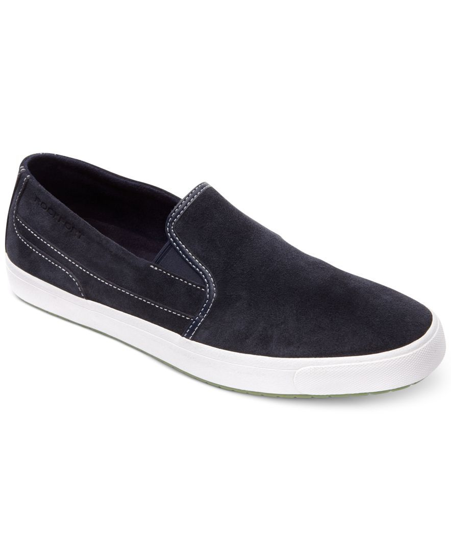 Rockport Path to Greatness Casual Suede Slip-On Shoes - All Men's Shoes -  Men - Macy's