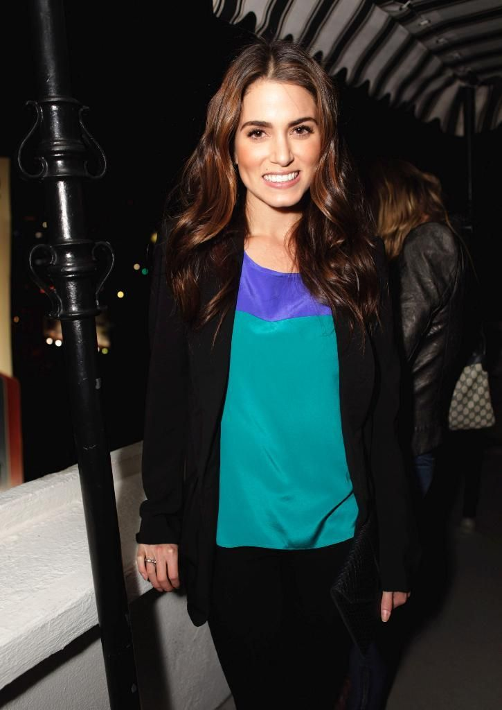 Nikki Reed in the Color Block Top