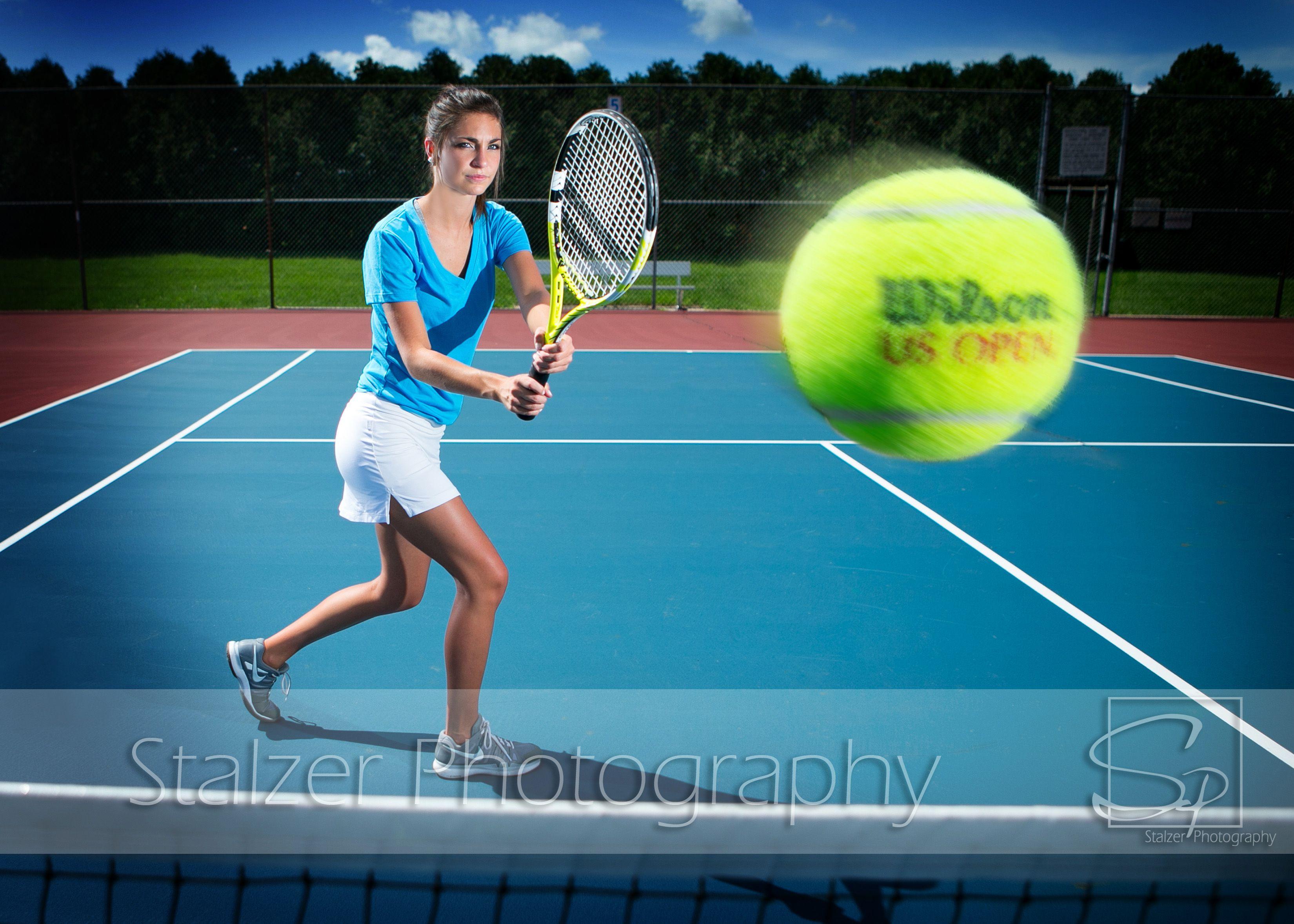 Senior pictures tennis wilson ball courts racquet