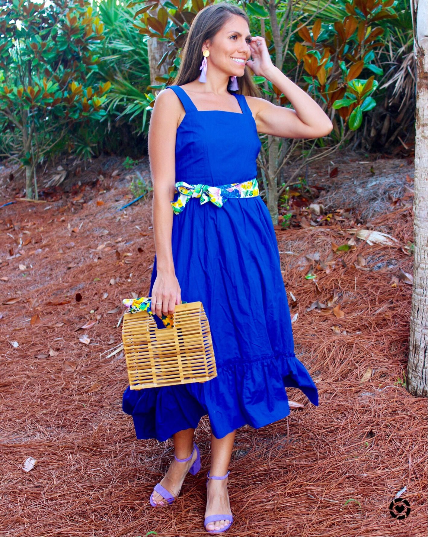 Women S Fashion Women S Outfit Blue Dress Target Dress Target Bamboo Bag Purple Shoes Fashion Target Dresses Womens Fashion Dresses Casual [ 1777 x 1418 Pixel ]