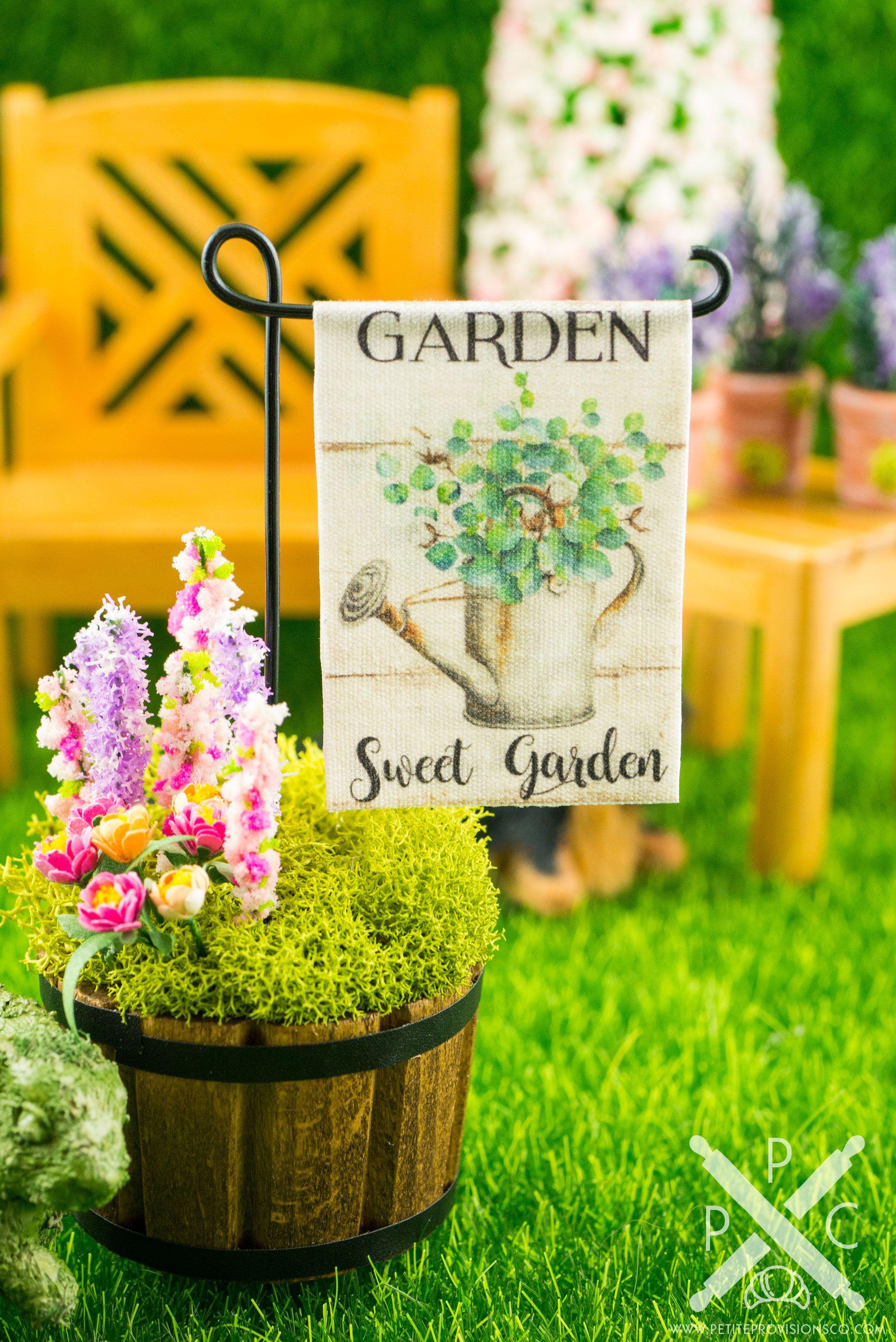 Garden sweet garden spring garden flag miniature garden