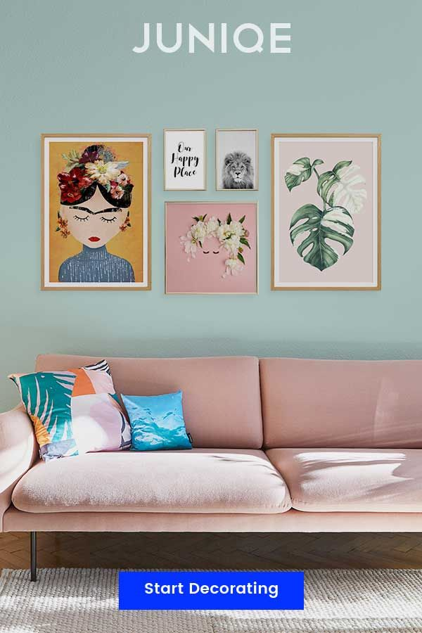 Colourful Wall Interior Decoration Shop Wall Art By Colour Theme And Style At Juniqe Designs Printed On Gallery Q Wall Art Living Room Decor Gallery Wall