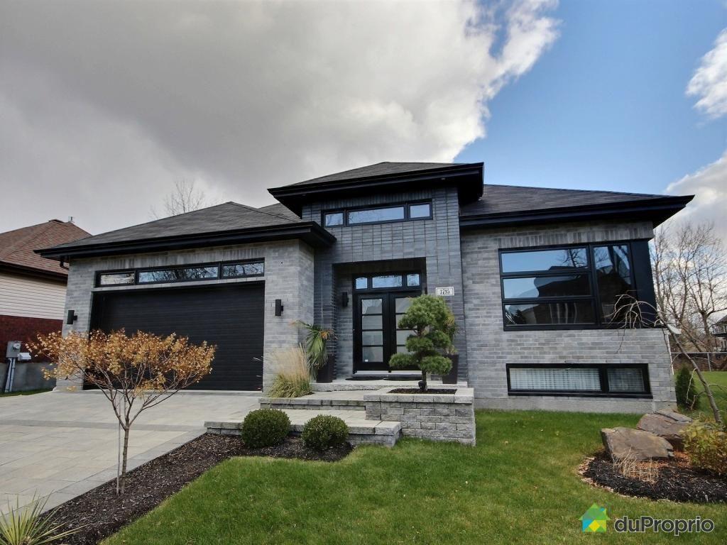 bungalow ultra moderne aire ouverte entirement fenestr sur bois aucun voisin larrire piscine creuse ides pour la maison pinterest - Facade Maison Moderne