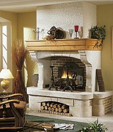 Standout fireplace designs patio propane lovely for French country stone fireplace