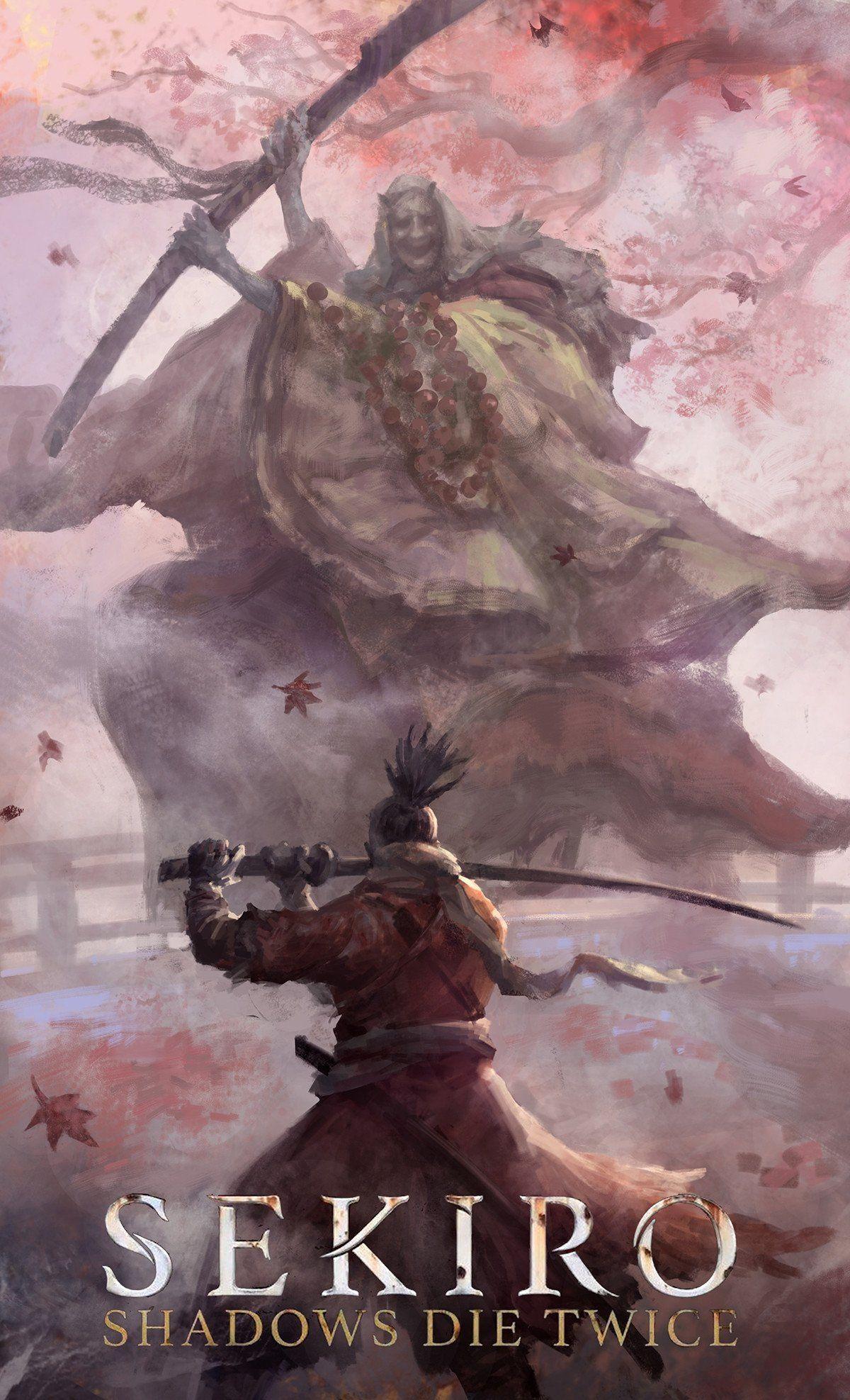 Fan Art By Zhuoxin Ye Sekiro In 2019 Ninja Art Dark