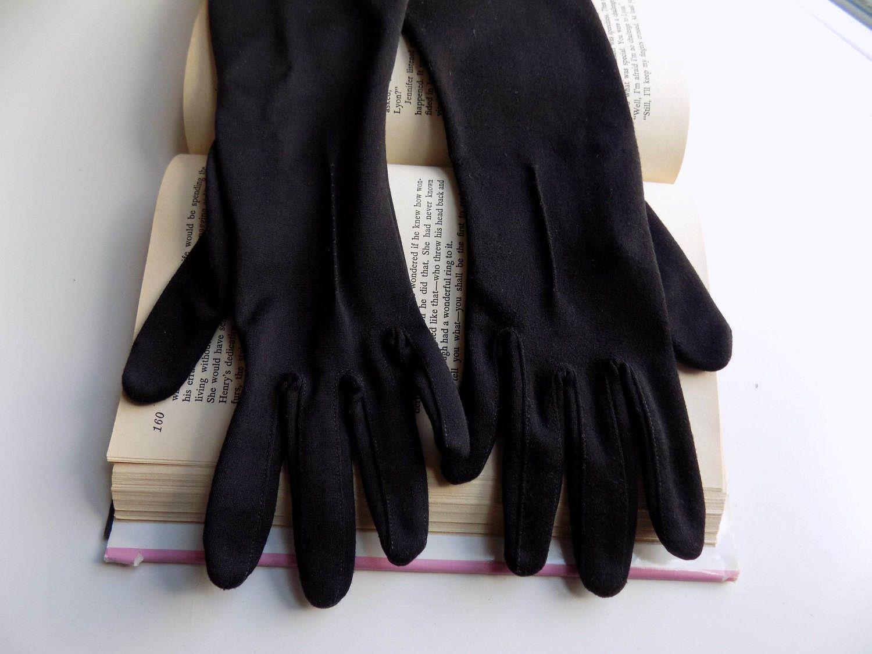 Vintage ladies leather opera gloves - Formal Gloves Vintage Gloves 1960s Long Black Gloves 60s Gloves Black Size Medium Womens Gloves Ladies Gloves Opera Gloves