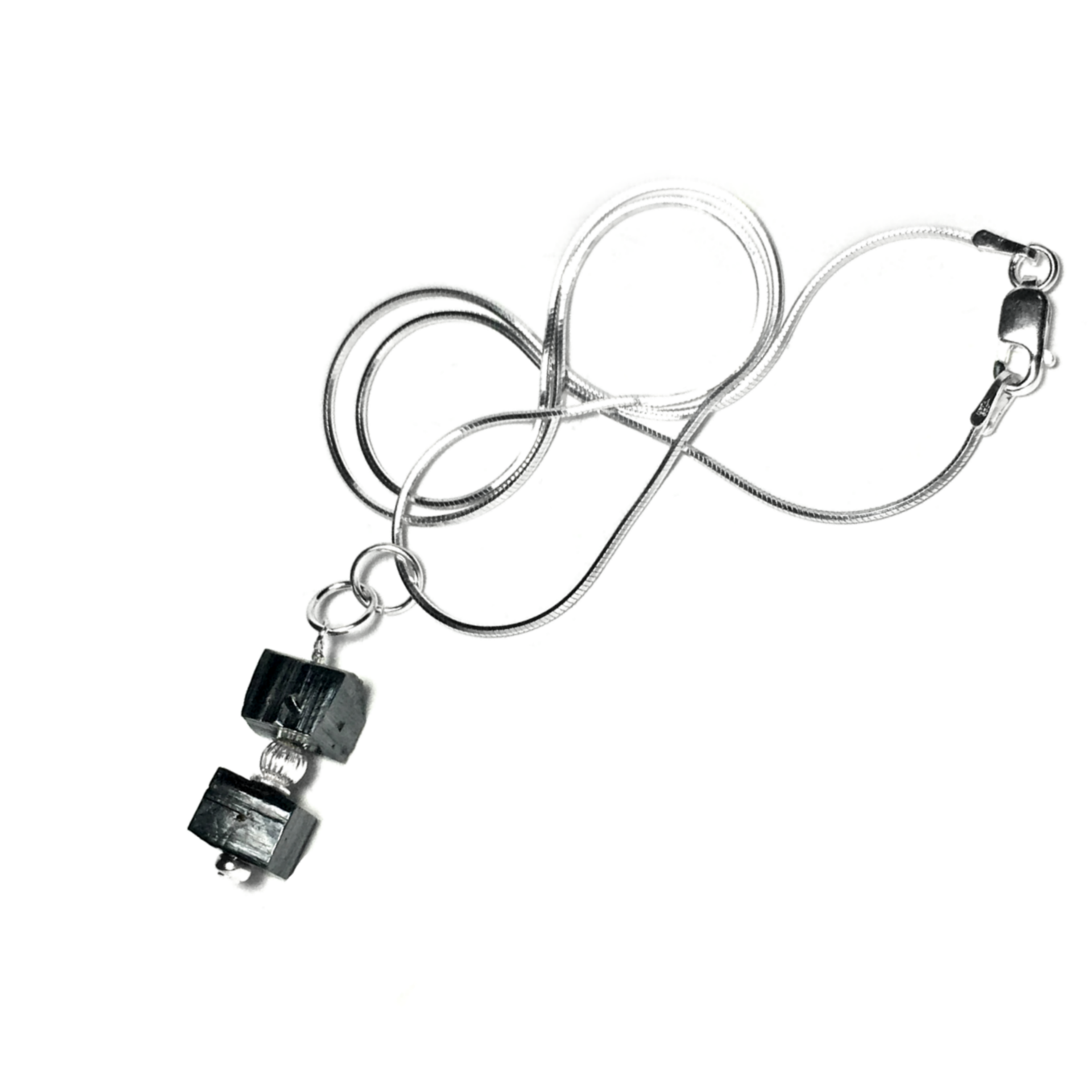 Visit us to view this sterling silver geometric Sierra Laguna Goethite Crystal necklace, and to check out our selection of other geometric, minimalist, modern, and clean, elegant mineral gemstone jewelry! Happy Holidays! http://etsy.me/2zPEcxJ6336 #geometric #jewelry