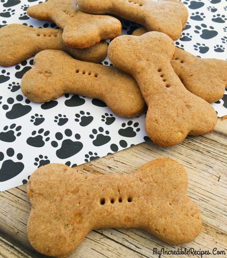 4 Ingredient Dog Biscuits Recipe Dog Biscuit Recipes Dog Cookies Dog Biscuits