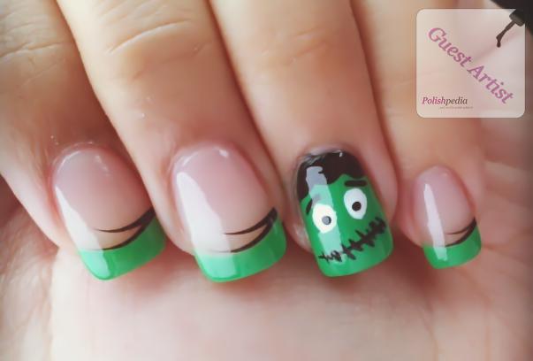 Green Frankenstein Nails for Halloween | Polishpedia: Nail Art .. - Green Frankenstein Nails For Halloween Polishpedia: Nail Art