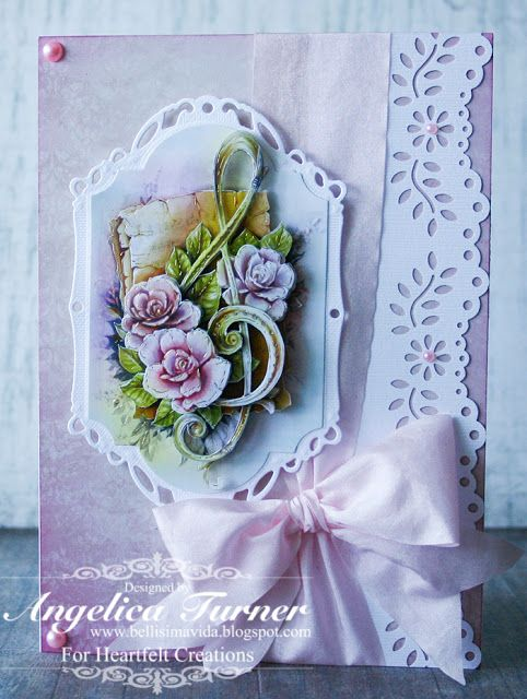 Floral Music Note Card, Heartfelt Creations paper.