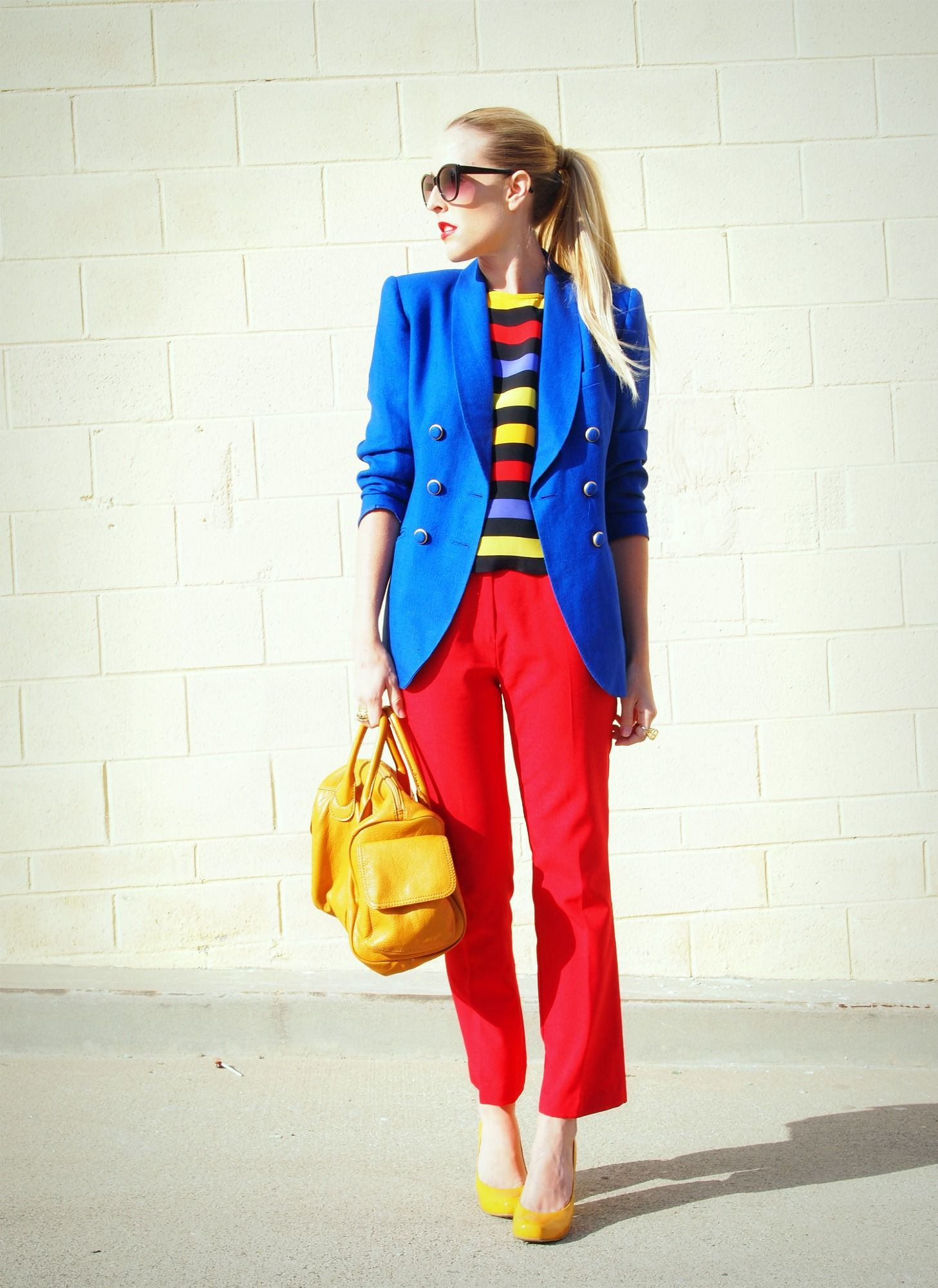 Love This Color Block Outfit From B Jones Style Triad SchemeColor SchemesSplit Complementary