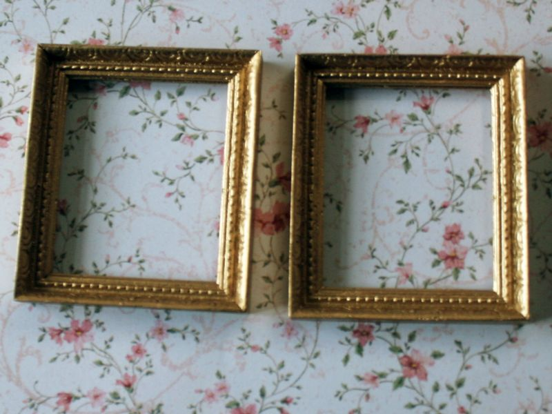 Dolls House Miniature Gold Frames. A1059. | Life in Miniature ...