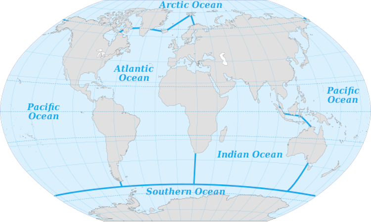 How Many Oceans Are There In The World Oceans Of The World Ocean Southern Ocean