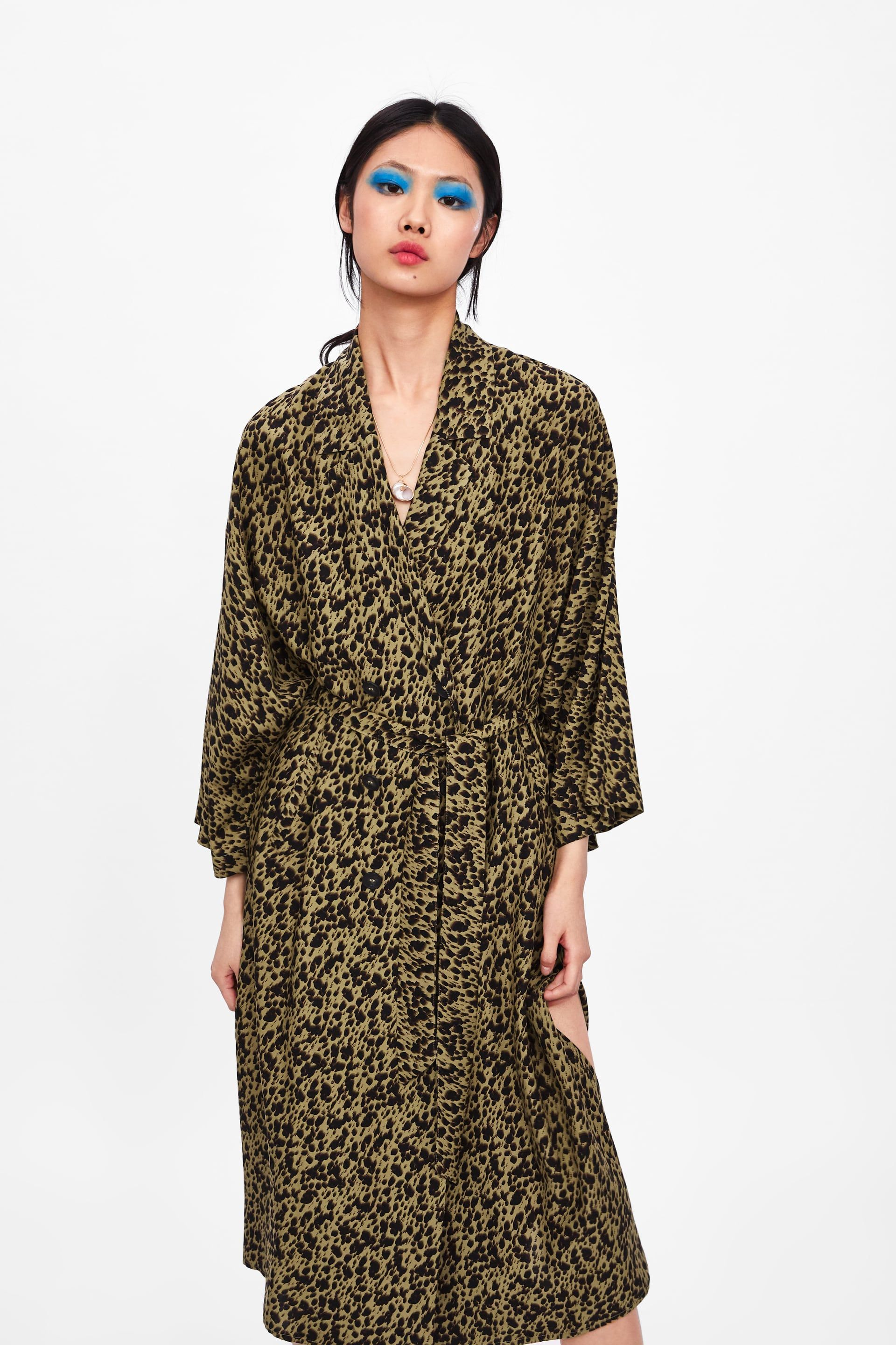 e150a3957d Flowing animal print trench coat in 2019 | style | Coat, Trench ...