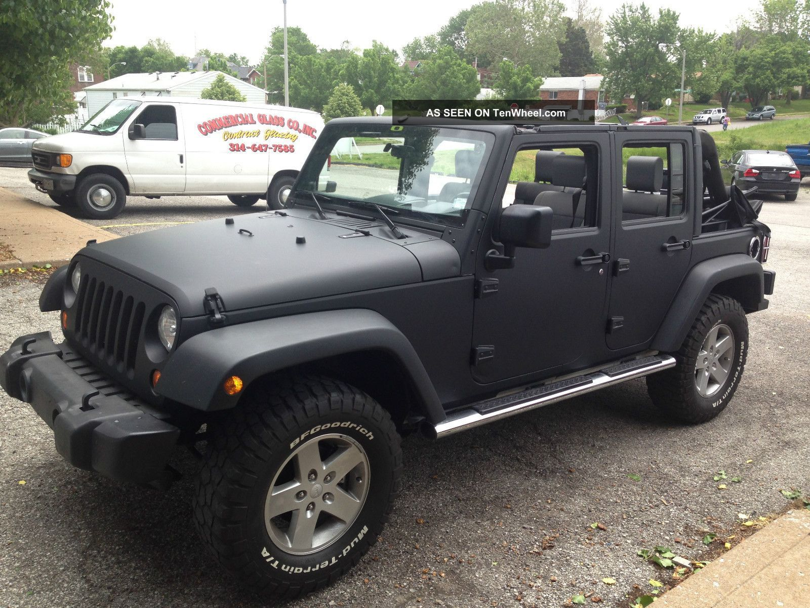 2008 jeep wrangler unlimited x wrapped matte black lift ram air