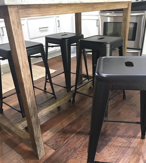 Concrete Kitchen Table, Kitchen Island, Rustic Industrial Concrete