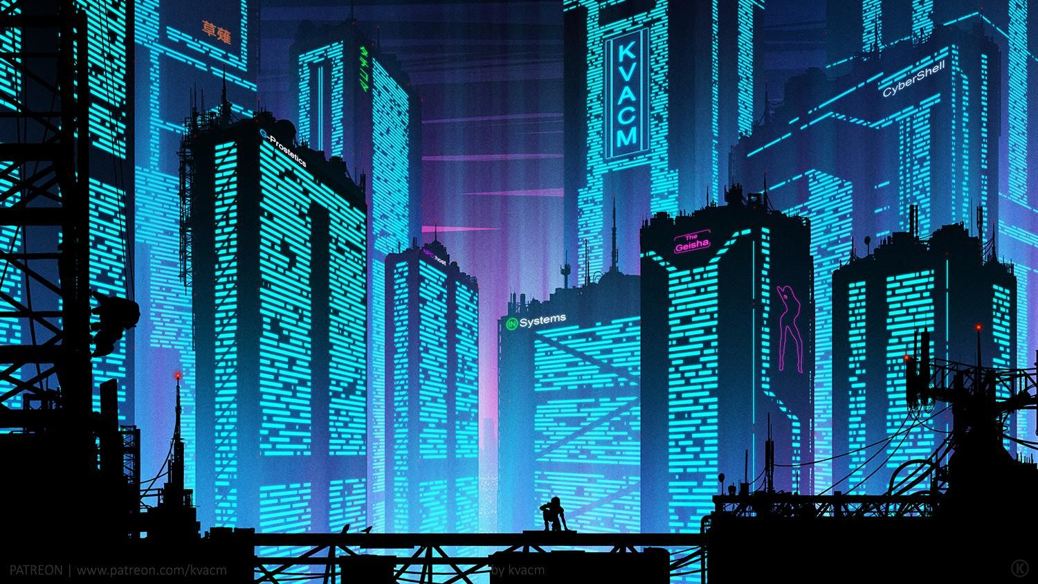 Five Days Spend On City Form Ghost In The Shell Ghost In The Shell Cyberpunk City Futuristic City
