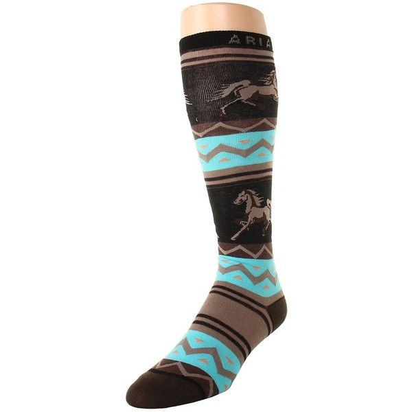df05c5f70 Ariat Apache Knee High Women s Knee High Socks (87 SEK) ❤ liked on Polyvore