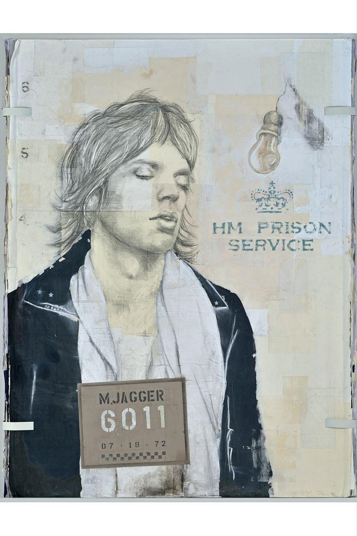 Mick Jagger #dravetart #art #louisboudreault #mickjagger #singer #musician #icons #series #artist #painting