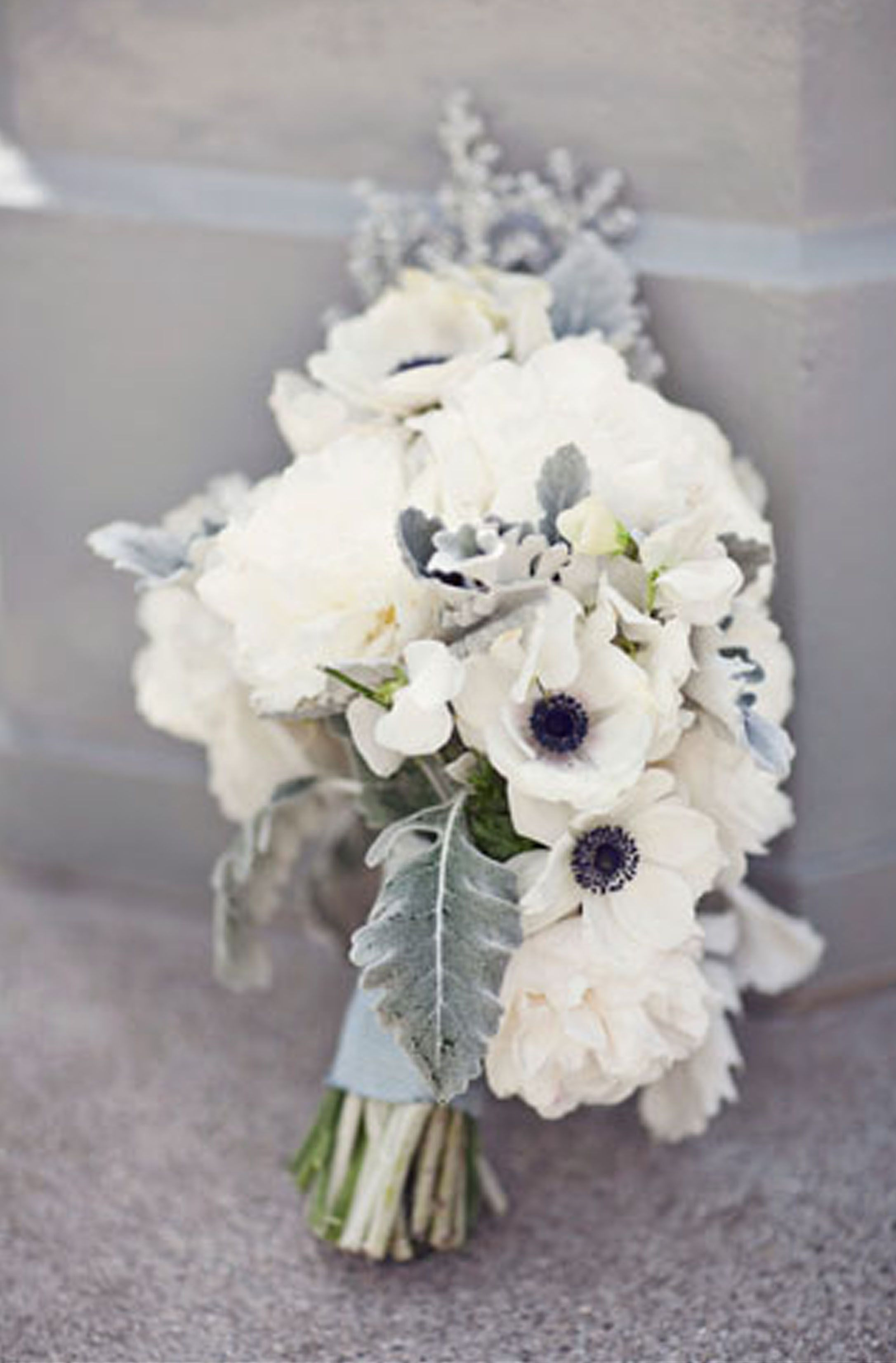 winter white bouquet... with \