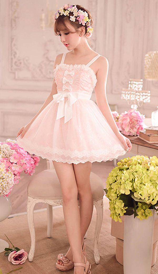 Sweet pink bow princess lace dress | Maoww | Pinterest | Kawaii ...