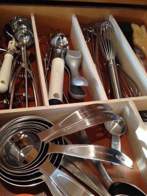 DIY: keittiön laatikot järjestykseen