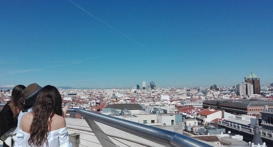 Vistas De Madrid Desde La Terraza Del Bellas Artes Vistas Madre Bellas Artes