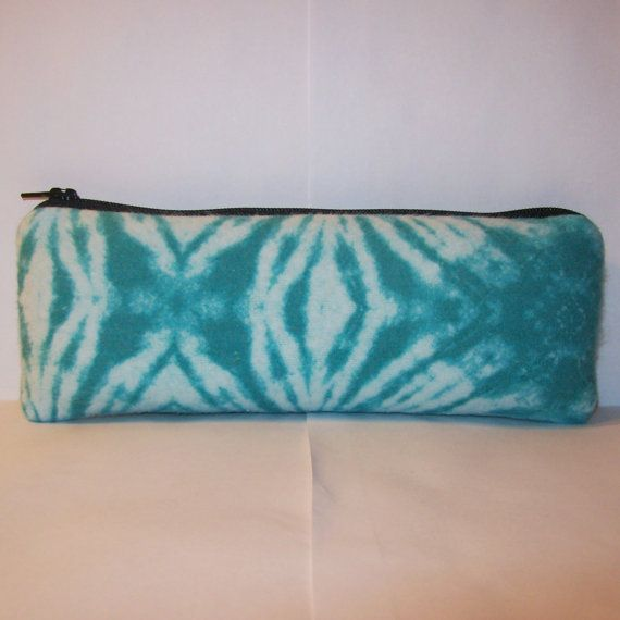 """Pipe Pouch, Tie Dye Print Bag, Glass Pipe Case, Teal Pipe Bag, Hippie Pouch, Padded Pouch, Stoner Gift, Vape Pen Bag, Pipe Bag - 7.5"""" LARGE by PouchAPalooza.com"""