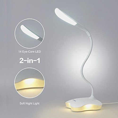 Ledemain Reading Desk Lamp 2 In 1 Book Light With 14 Eyecare Leds